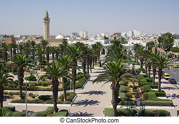 Types of Monastir in Tunisia, Africa in summer day