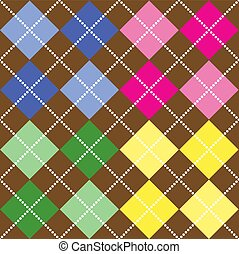 Colored Argyle Pattern - Background illustration of...