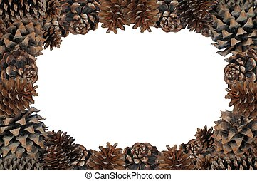 Pinecone page border. - Natural pinecone page border with...