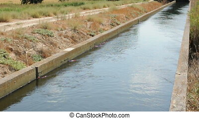 Irrigation canal in the field