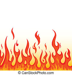 fire - vector illustration of fire