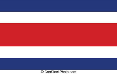 Flag of Costa Rica vector illustration