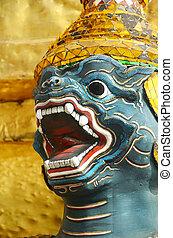 Ramayana Character. - Ramayana character in Wat Pra Kaw,...