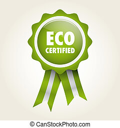 label eco certified - bio label green badge ecologic