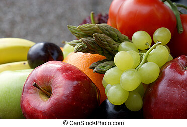 Fruit and vegetables - Various fruit and vegetables