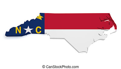 North Carolina Map 3d Shape - Shape 3d of North Carolina map...