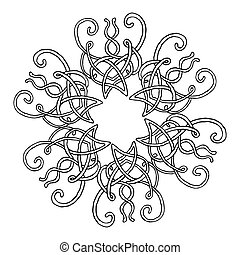 abstract swirly background -ornamental round lace