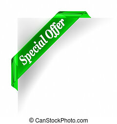 Special Offer - Green glass top banner. Part of a series.