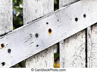 White wooden door detail