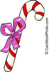 Christmas candy cane on a white background vector...