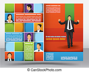 Brochure design template - Business themed brochure design...