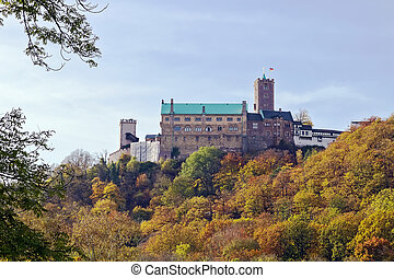 Castle Wartburg, Germany - The Wartburg is a castle situated...