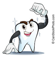 a tooth - illustration of a tooth on a white background