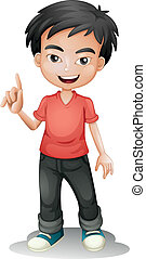 a boy - illustration of a boy on a white background