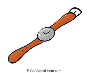wrist watch - illustration of a wrist watch on a white...