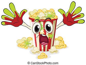 a popcorn - illustration of a popcorn on a white background
