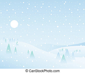 winter wonderland - an illustration of a classic winter...