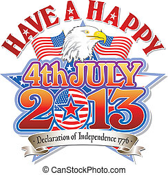 4 July 2013 with eagle