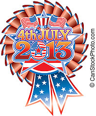 4 July 2013 Rosette hat - 4th July 2013 Star with Stars &...
