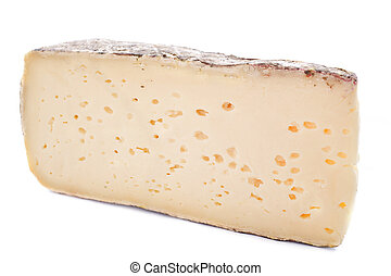 tomme de Savoie - tomme cheese in front of white background