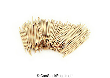 Many toothpick, isolated on white