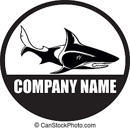 Shark, orca, whale, logo vector - Vector image for various...