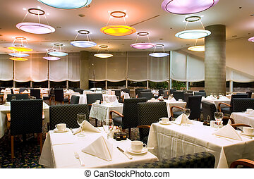 Hotel Restaurant - Restaurant tables of four star hotel in...