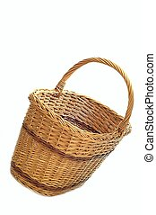 basket - wicker basket on a white background