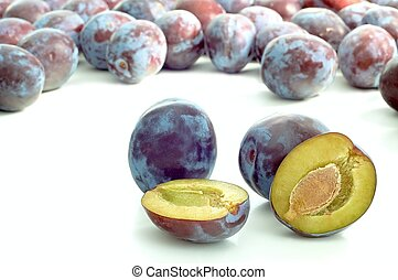 prunes - group prunes fruit with background