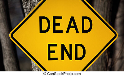 Dead End Sign - Dead end sign up close