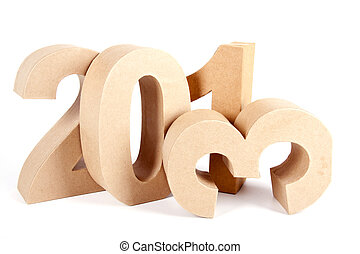 2013 in paper 3D numbers - Paper numbers forming 2013 as for...
