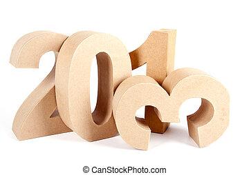 2013, papier, 3D, nombres