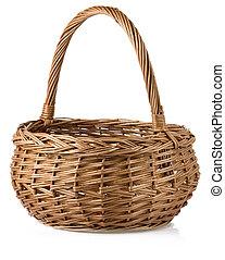 籃子, 柳條, 白色, 被隔离