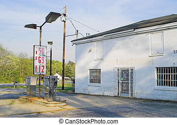 Old Gas Station - Old gas station with old gas station...