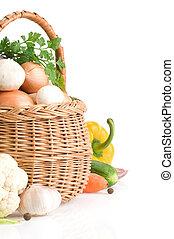 蔬菜, 新鮮, 白色, 食物