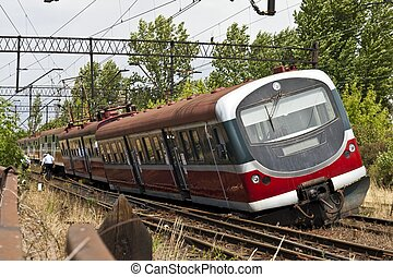 Train derailment - Derailed electric multiple unit