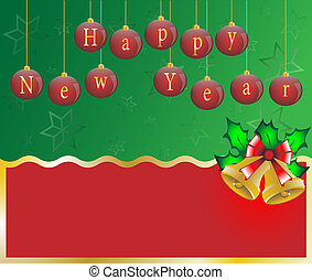 Happy new year card background