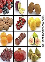 ścienny, owoce