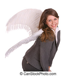 Business angel Isolated