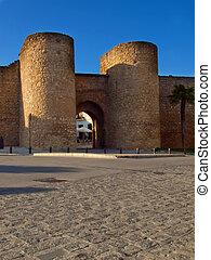 Almocabar town gate Ronda Malaga province Andalusia Spain -...