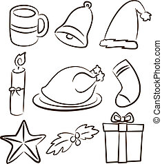 Set of christmas stuff