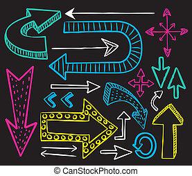 Colorful arrow doodle