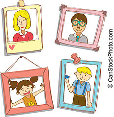 cute frame with family photo