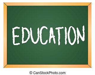 education word on chalkboard