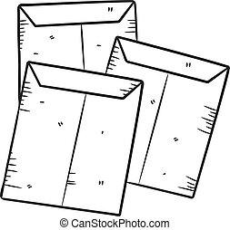 envelope doodle