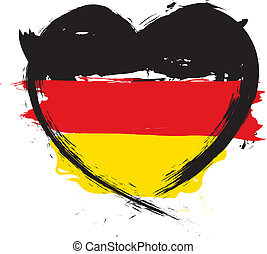 GERMAN HEART SHAPE FLAG