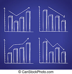 graphic chart in doodle style