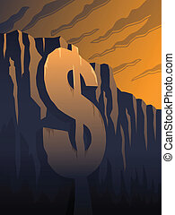 Fiscal cliff - The fiscal cliff - a dollar sign in front of...