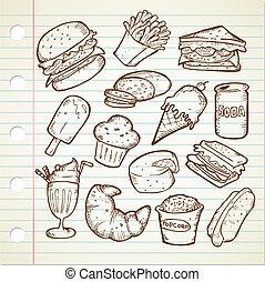 junk food doodle