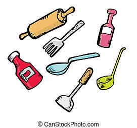 kitchen ware doodle